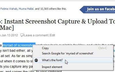 Scoprire il font utilizzato da un sito